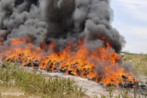 Police Burn 3.3 Tons of Weed And Get An Entire Town High