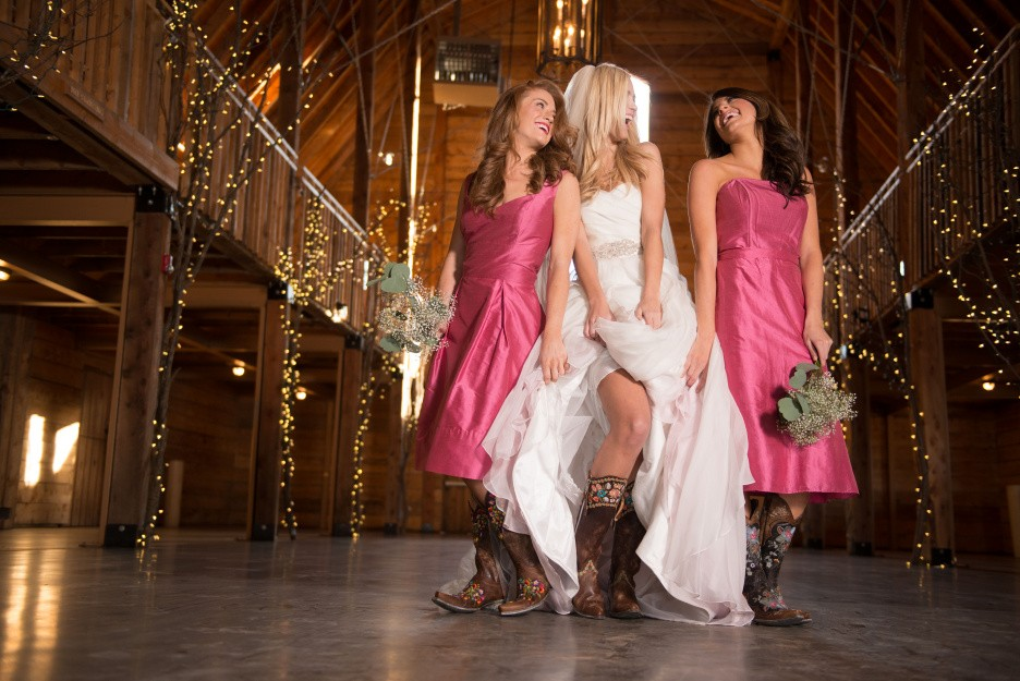 Wedding Inspiration: Boots with Dresses - One Country