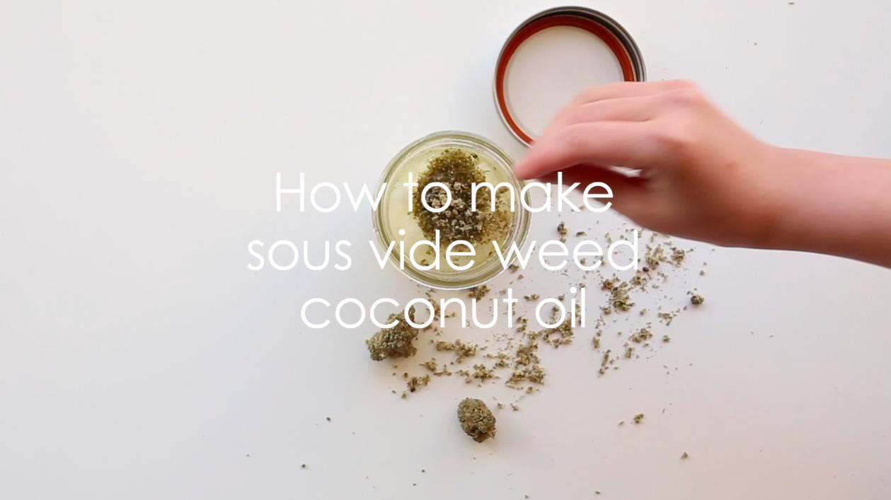 How To Make Medicated Coconut Oil with Cannabis