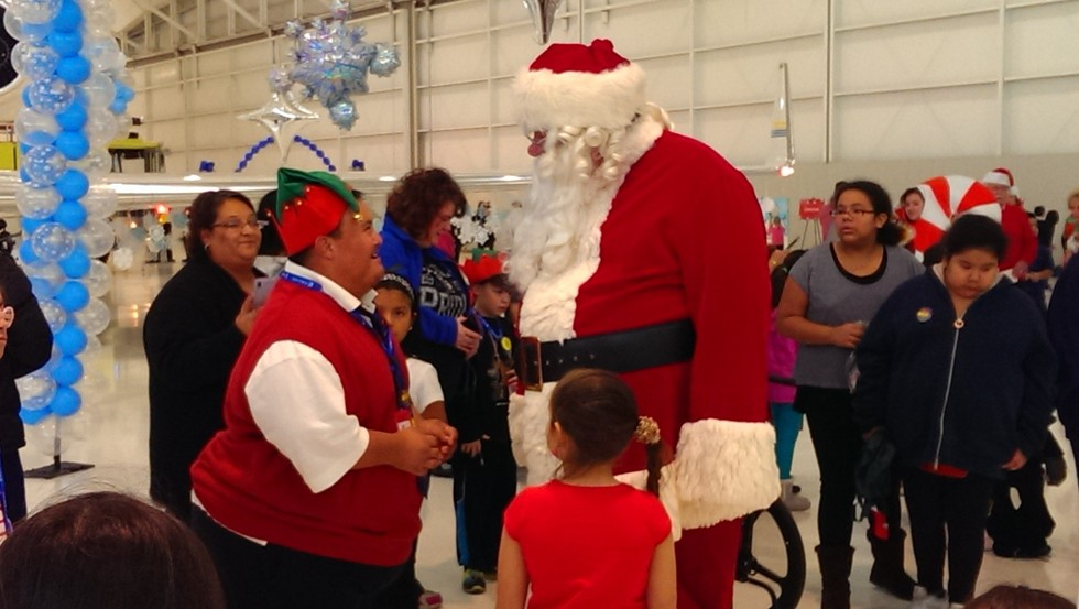 Santa Visits United Fantasy Flights