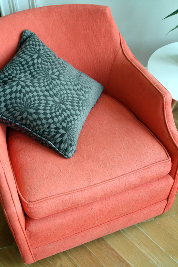 how to get hairproducts of fabric furniture