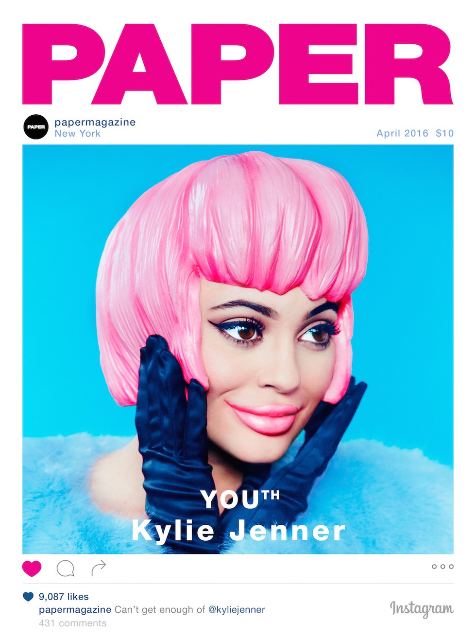 Image result for paper magazine covers kylie
