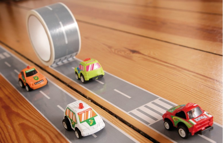 Create A Road Tape And Car Playset