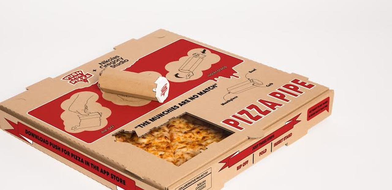 Have Your Munchies and Smoke It Too With This Pizza Box Pipe