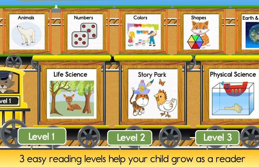 Reading Train -- spelling and reading apps
