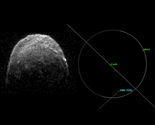 view asteroid 2005 yu55 - photo #5