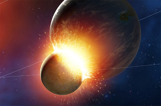 Violent Moon-Forming Impact Occurred 60 Million Years Earlier