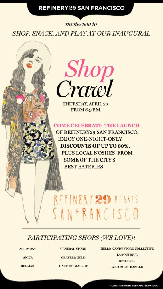 This Weeku0027s Best Fashion Events: Refinery29 Shop Crawl, The Capsule Design  Festival, Benny Gold Grand Opening  Fashion Design Posters