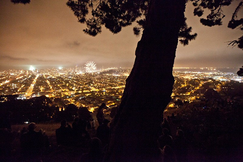 Image result for Bernal Heights Park Fireworks