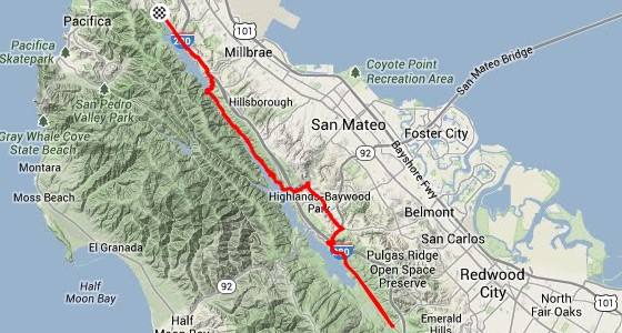 The Ultimate Sunday Bike Ride Riding The San Andreas Fault X - San andreas fault map bay area