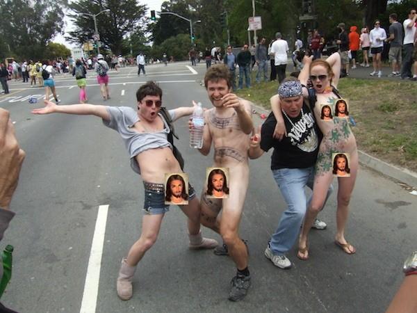 Bay breakers naked