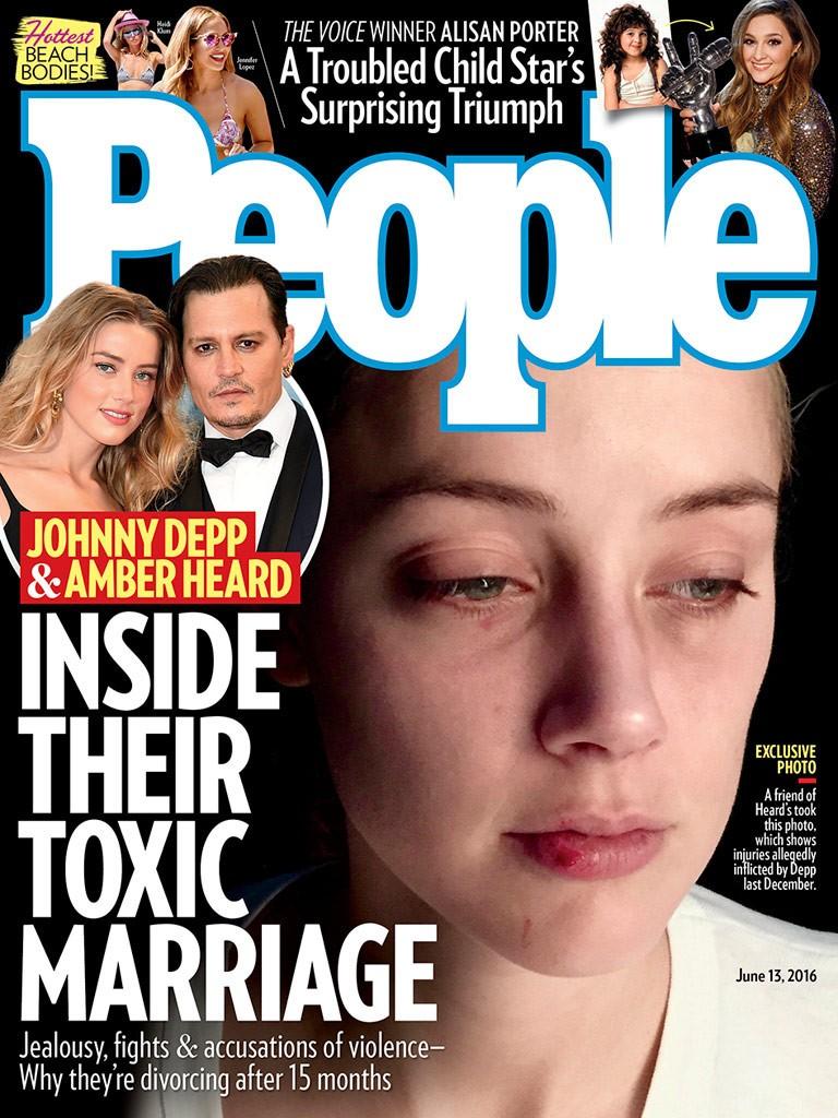 cover amber heard depp johnny magazine paper allegedly taken friend