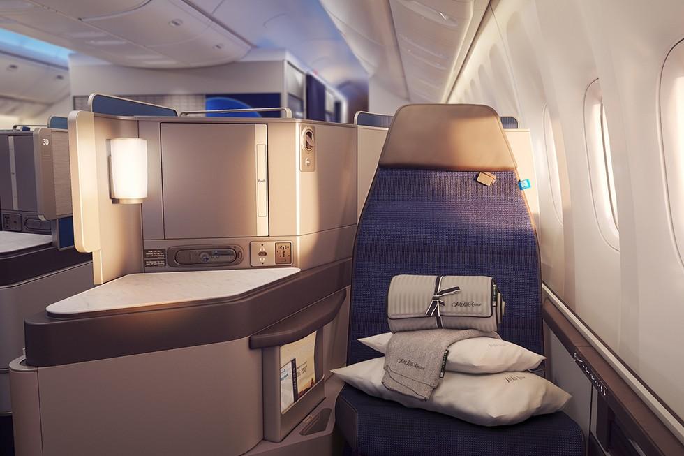 New United Polaris Business Class Lay Flat Seat