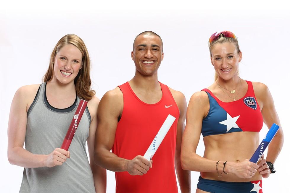 Team USA Athletes Pass the Baton
