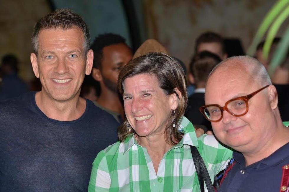 Michael Daube, Executive Director of CITTA with Elizabeth Hummer and Mickey Boardman