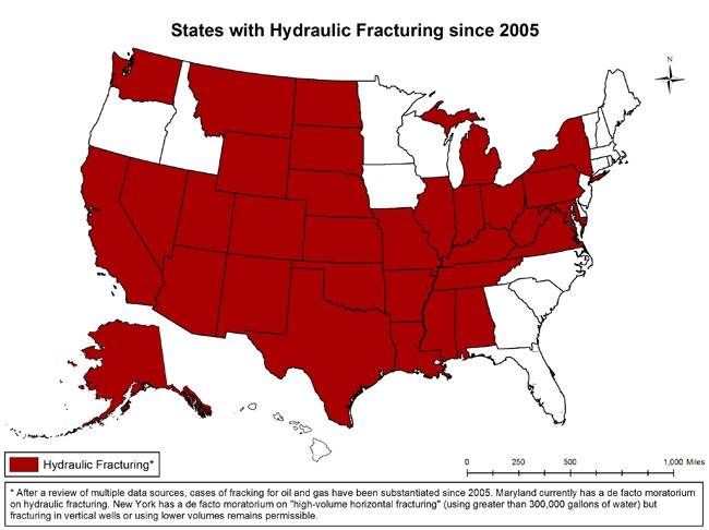Do You Live In One Of The States That Has Been Fracked EcoWatch - Us fracking map
