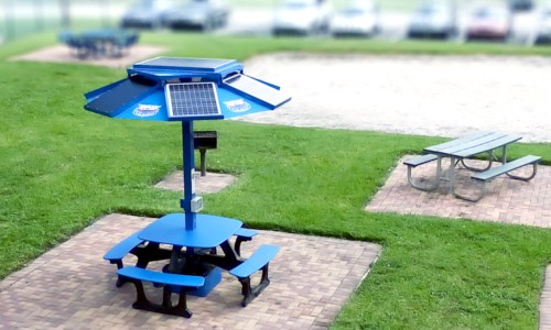 Solar Picnic Tables Power Phones And Laptops At Colleges Across The - Solar picnic table