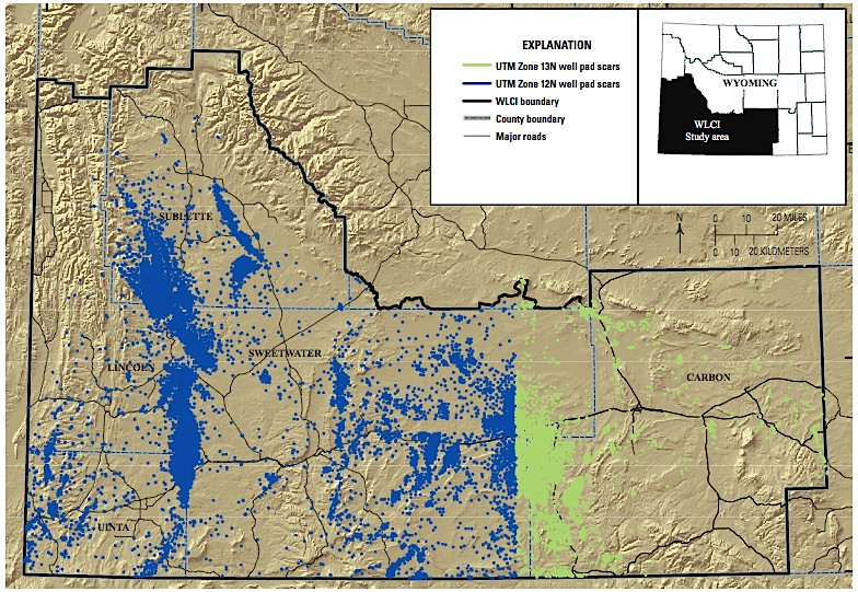 Fracking In Wyoming Map.Usgs Maps Fracking In Fragile Region Of Wyoming Ecowatch