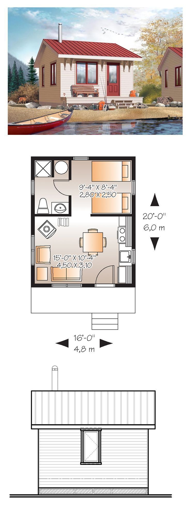 Big plans for tinyhouses the snug for Small home floor plans
