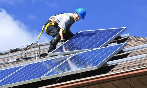 Image result for photos of solar energy jobs
