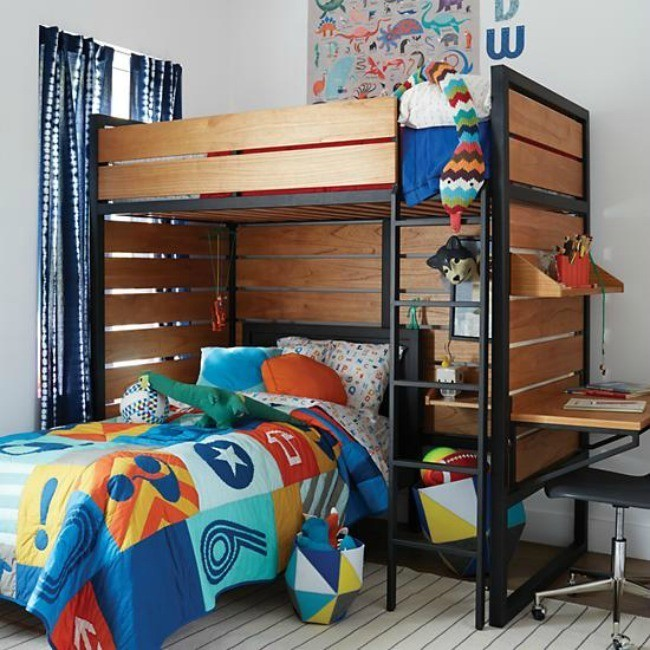 Solid Wood Kids Furniture #18: The Land Of Nod Sells A Large Selection Of Cribs And Beds Using High Quality Solid Wood From The Poplar Tree. Photo Credit: The Land Of Nod