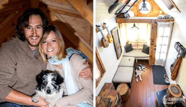 Tiny House On Wheels Provides Giant Journey For Couple Their - Couple takes tiny house big adventure