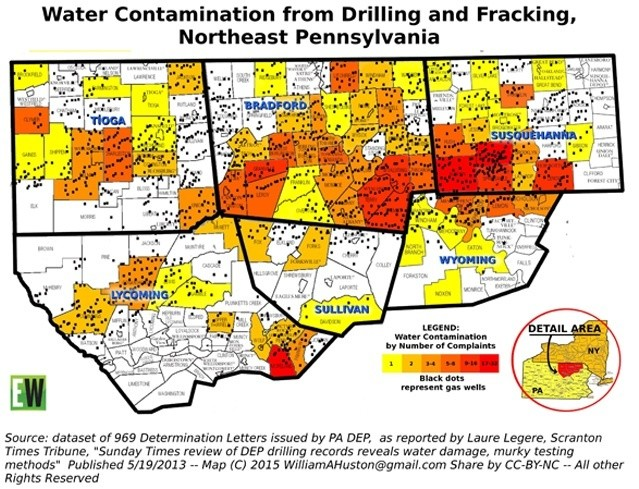 Fracking Does Cause Widespread Systemic Contamination Of - Groundwater oil contamination us map