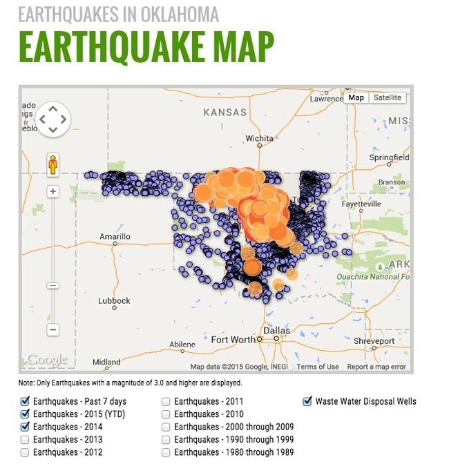 40 earthquakes hit frack happy oklahoma in last 7 days ecowatch the number of earthquakes has risen dramatically in recent years along with the rapid increase in fracking infrastructure in the state gumiabroncs Image collections
