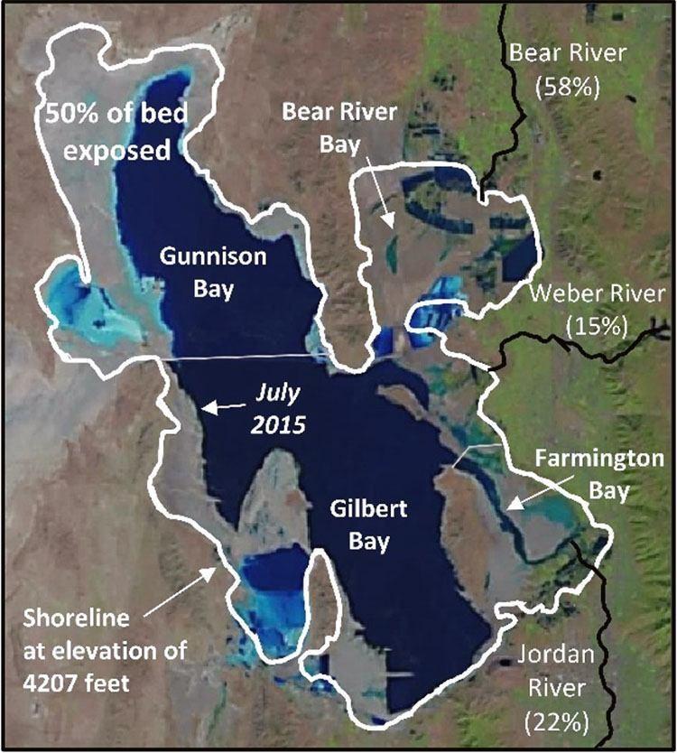 Bolivias SecondLargest Lake Dries Up Is Utahs Great Salt Lake