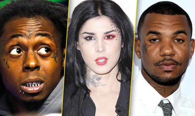 A Whole Bunch Of Famous People With Super Bad And Fugly Face Tattoos Popdust