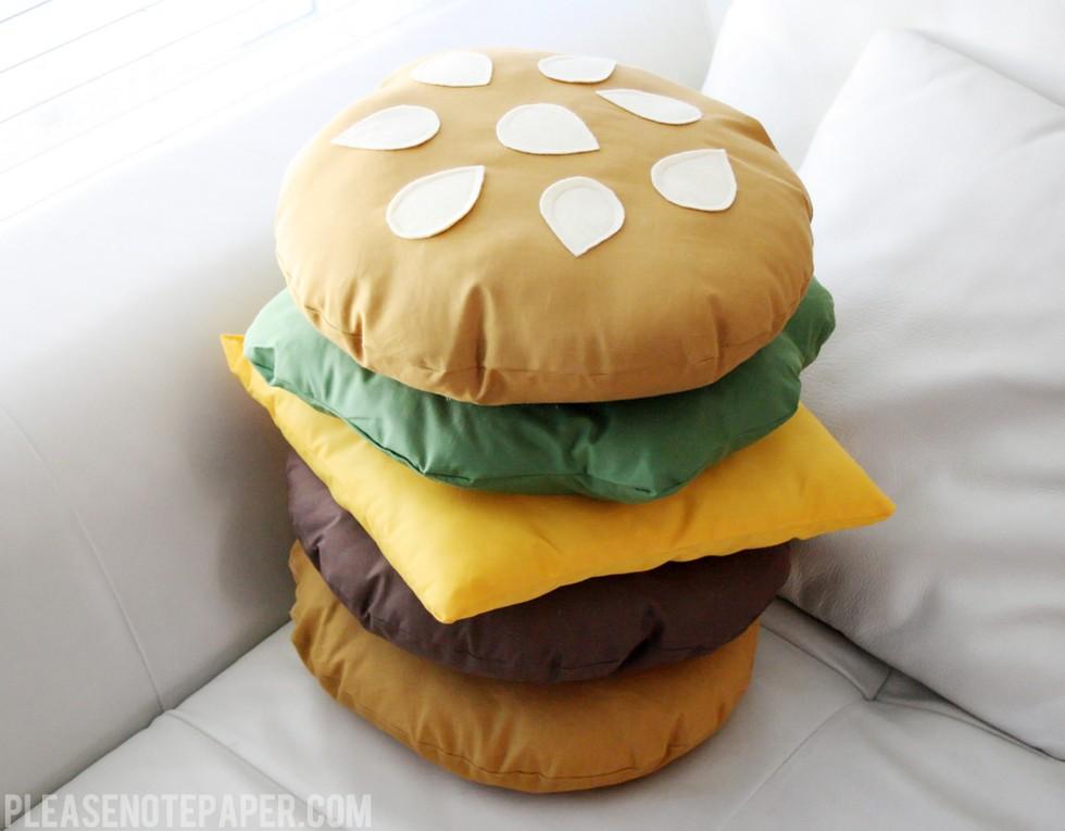 Diy Buy Food Shaped Pillows Pizza Cheeseburger Cookie