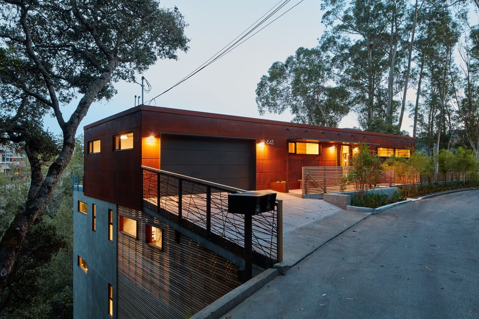 An architectural stunner atop mount tamalpais 7x7 bay area for Mill valley architects