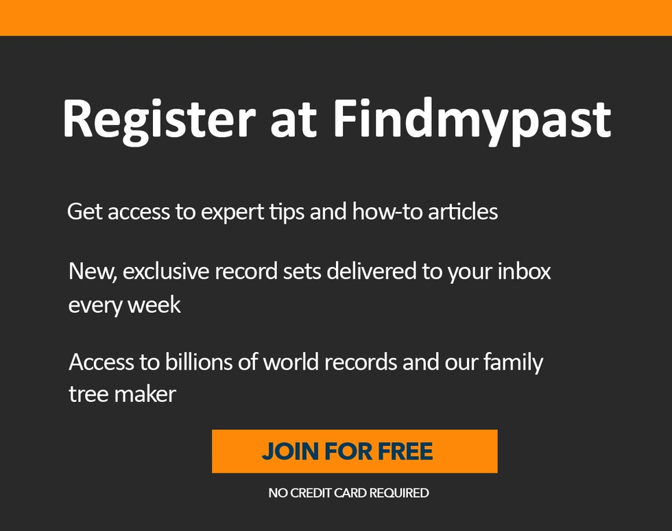 Register for Findmypast