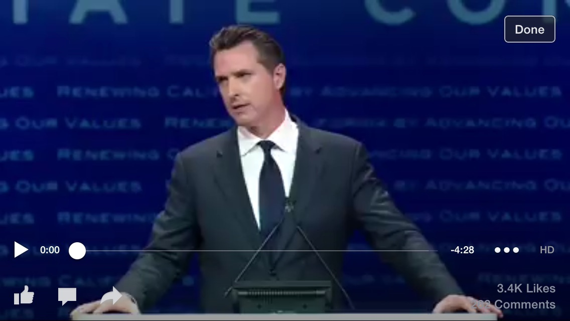 """Gavin Newsom weighs in on Pot: """"It's time to legalize,tax and regulate Marijuana for adults in California...""""It"""