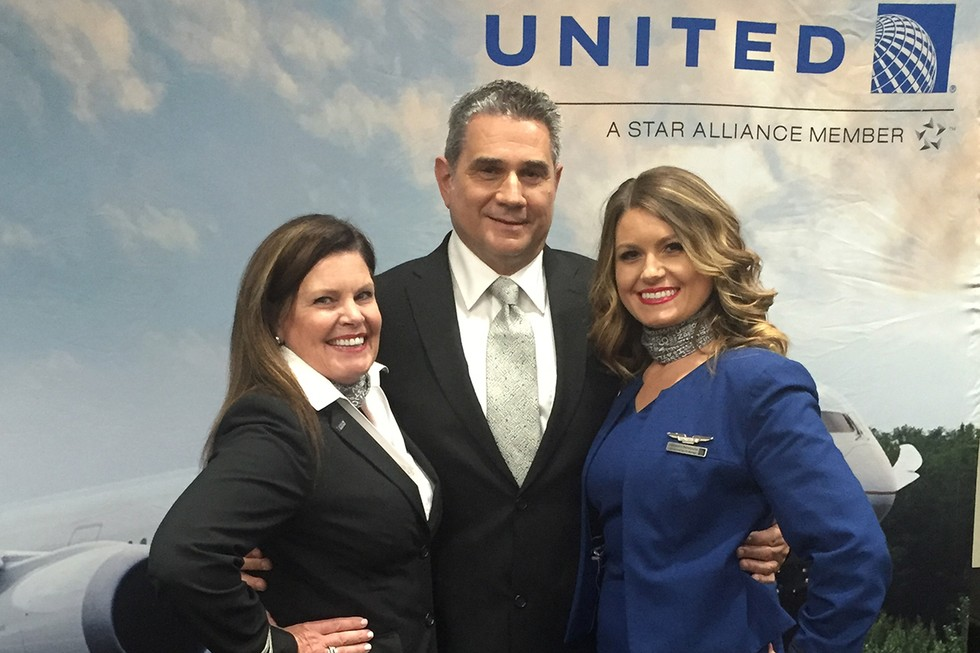 Flight Attendant Alexandra Deliopoulos with Family