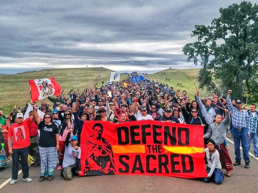 Image result for dakota pipeline protest