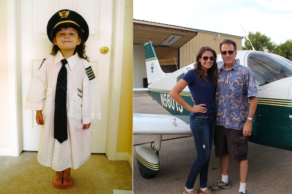 Pilot Father and daughter, Maddie