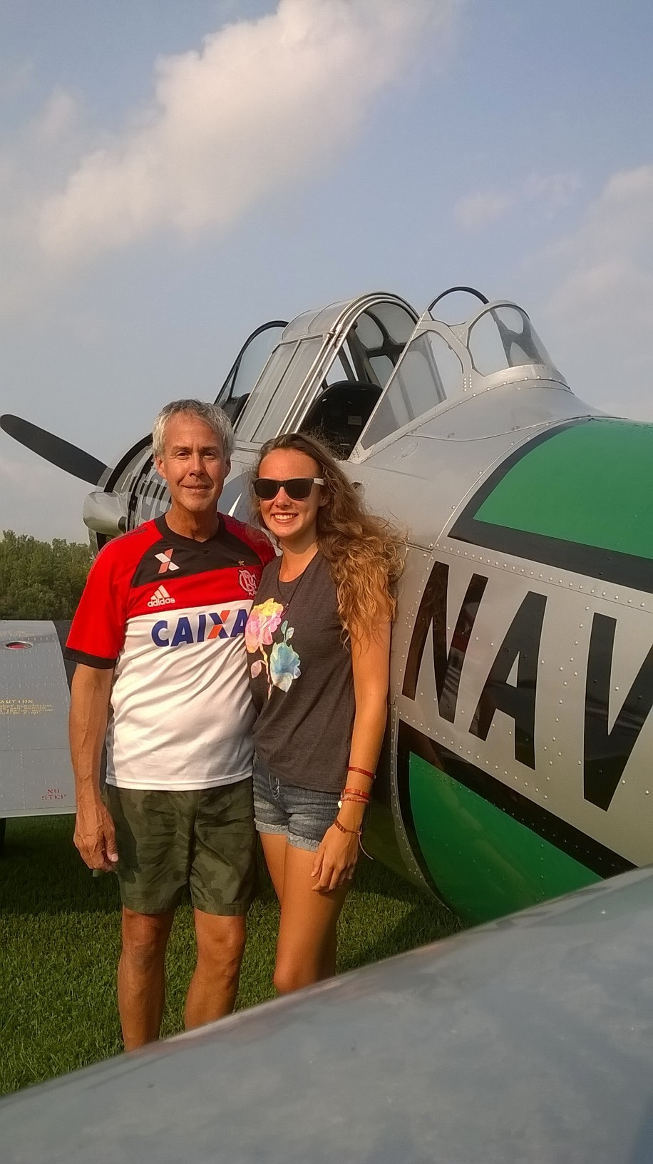 Nicole Baird with Pilot Father