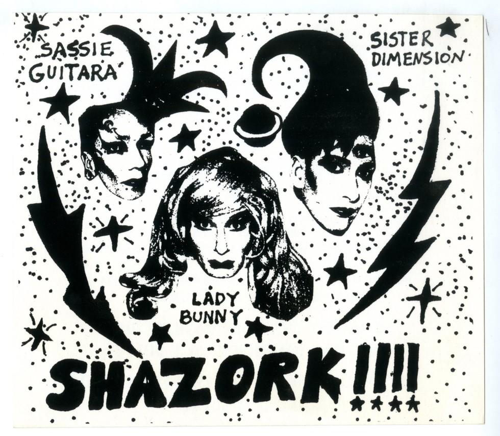 Shazork!!!! at Danceteria invitation. Late 1980s.