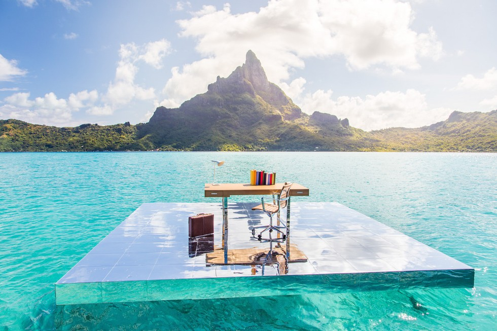 Gray Malin, The Office From The Art Of Living Series Shot At Le Méridien  Bora Bora
