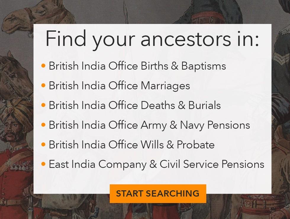 British in India records