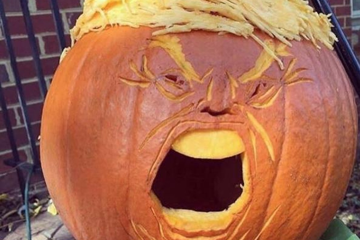 """Trumpkins"" Are The Most Terrifying Halloween Decorations"