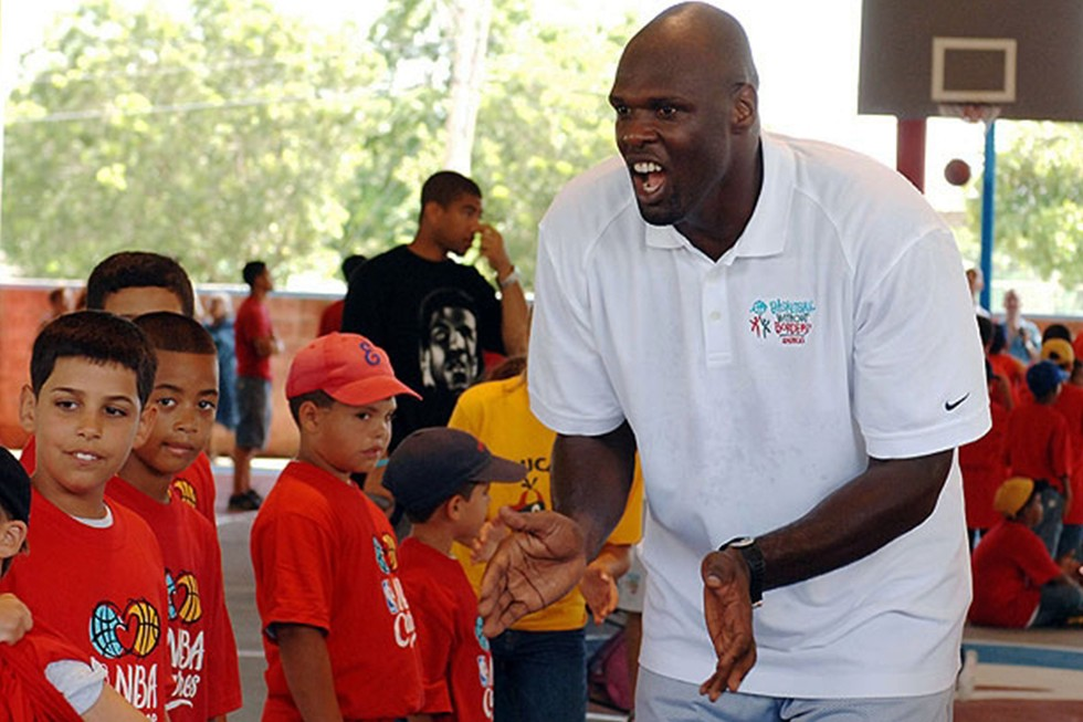 Adonal Foyle with Boys and Girls Clubs