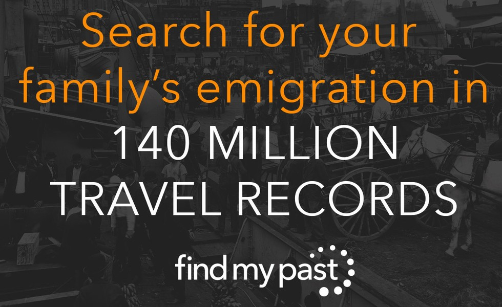 Search for your family's emigration in 140 million travel records