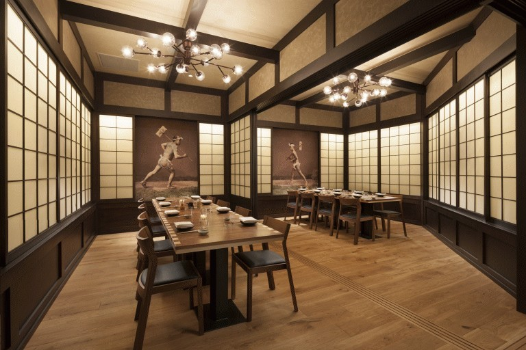 Available For Dinners Or Cocktail Affairs, This Back Private Dining Room  Decorated With Traditional Japanese Style Paper Walls And ...