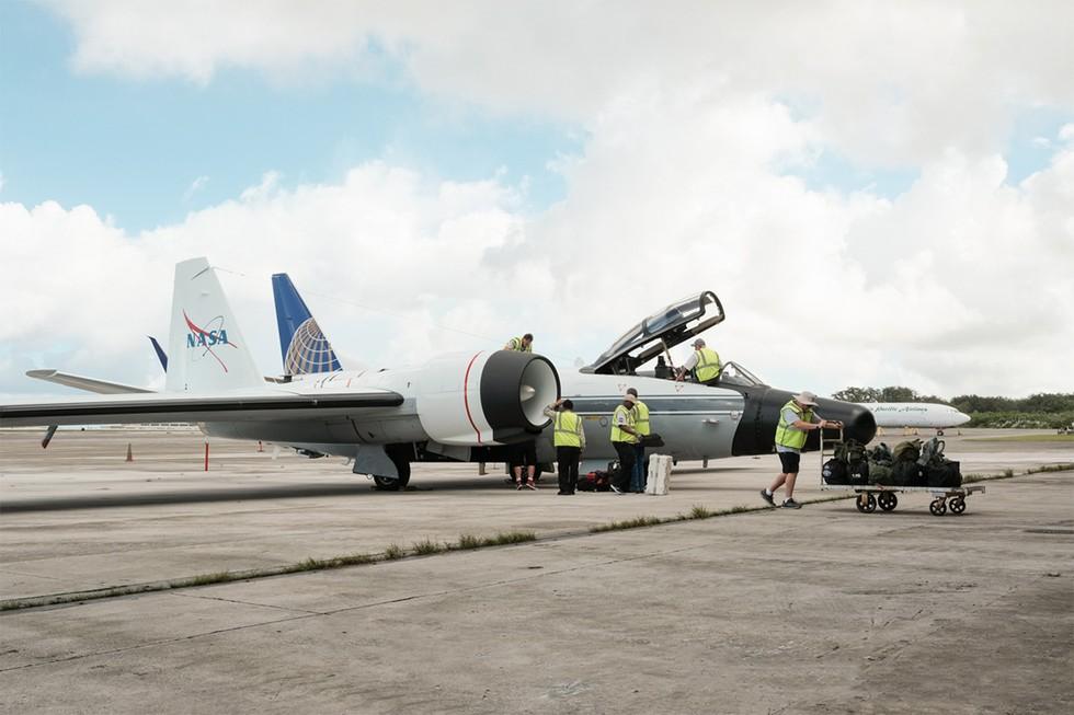 High-altitude WB-57F aircraft