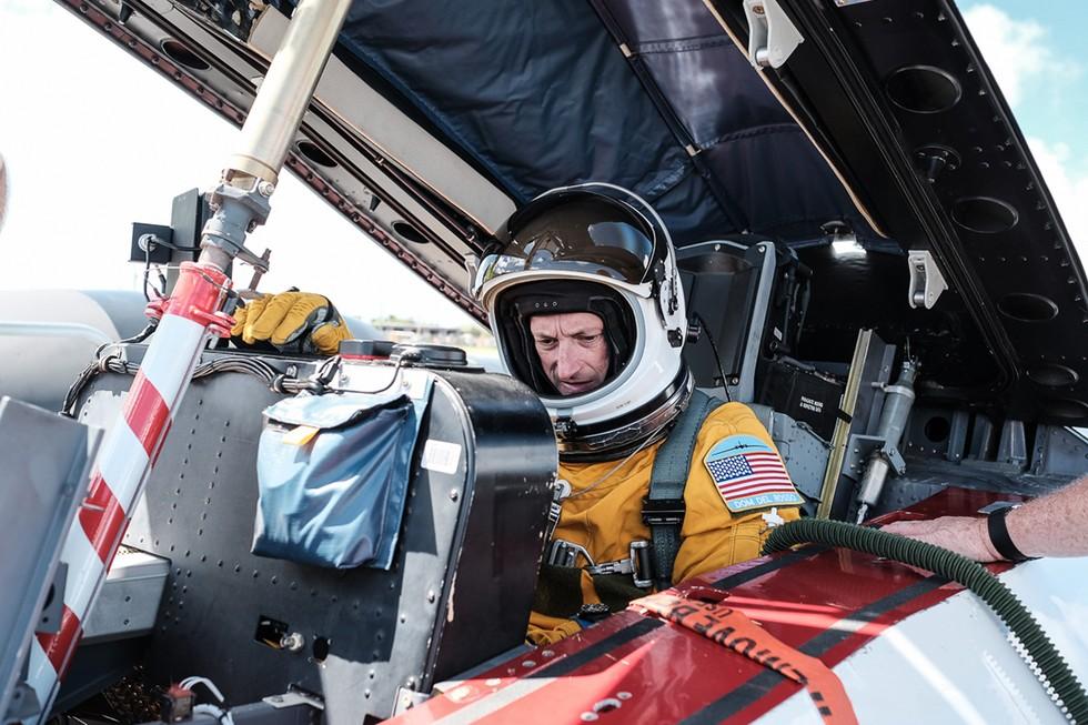 NASA Research Team Member in Aircraft