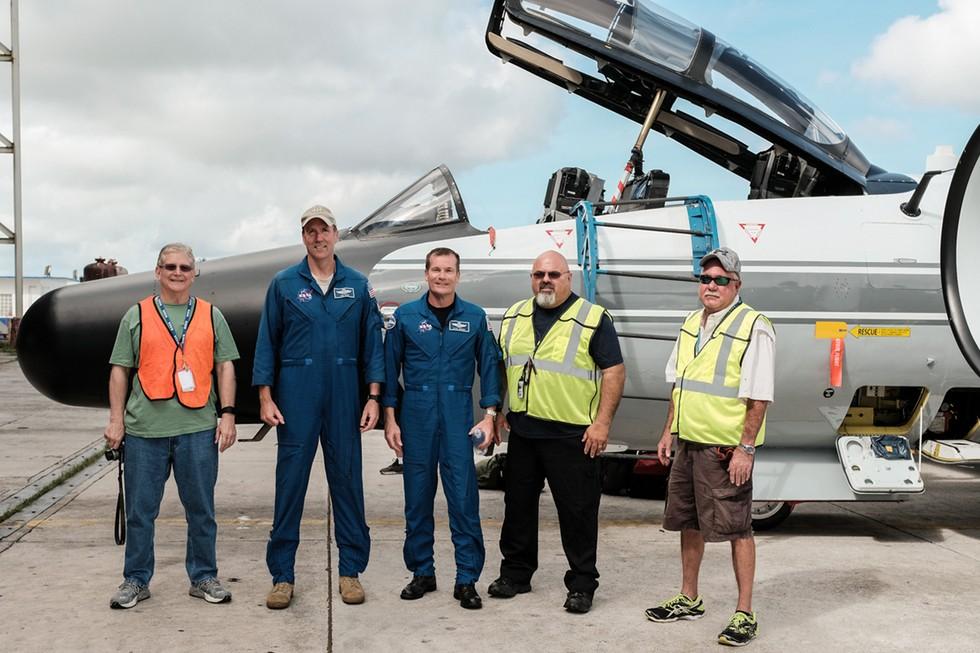 Employees Exploring NASA Aircraft