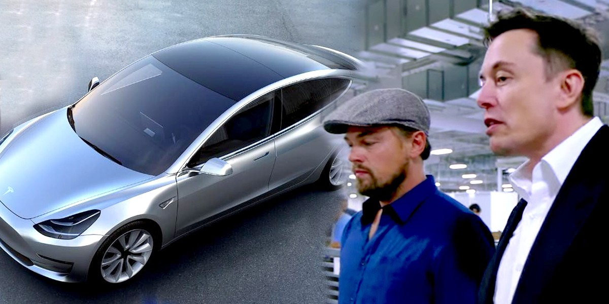 Musk to Put Solar Glass on Tesla Model 3, Tells DiCaprio We Must Transition From Dirty Energy
