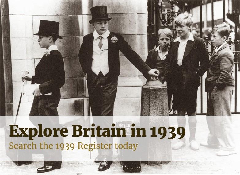 Explore Britain in 1939. Search the 1939 Register today.